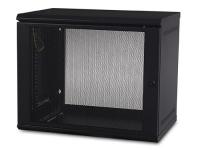 Gabinete APC AR109 NetShelter WX DE 9U 48.5 cm de altura x 59.9 cm de ancho, 40 cm profundidad, para montaje en pared neg
