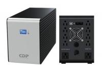 UPS CDP R-Smart 2010i, interactivo, 2000VA, 1200W, 220V, 10 tomacorrientes, 5 tomas UPS/AVR, 5 tomas de supresión de picos, pantalla LCD, interfaz de comunicación USB / RJ-45.
