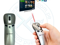 Multipuntero láser Teros TE-05, mouse inalámbrico / presentador láser / C. remoto Smart TV Tecnologìa de 6 ejes, integra multiples funciones, receptor USB plug and play, tecnología