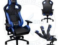 Silla gaming TteSPORTS GT Comfort, Reclinable, Aerodinámica, Reposabrazo, Base de aluminio COLORES, AZUL, ROJO Y VERDE