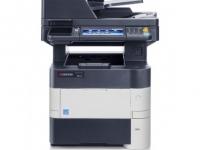 Multifuncional Kyocera ECOSYS M3550IDN, imprime/escanea/copia, LAN / USB 2.0.  Imprime solo en negro 50 ppm a 600 x 600 ppp y 1800 x 600 ppp, bandeja principal: 500 hojas, bandeja
