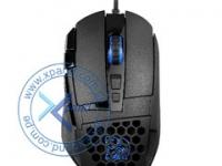 Mouse óptico Ttesports Ventus Z, 11000 dpi, USB, 10 botones, ergonómico, negro.
