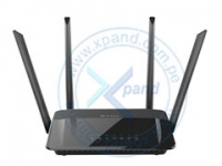Router Ethernet Wireless D-Link AC1200, Dual Band, 2.4/5.0 GHz, 1 RJ-45 WAN, 4 RJ-45 LAN .