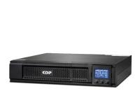 UPS CDP UPO11-1 RTi, On-Line, 1000VA, 900W, 220VAC, 8 salidas IEC-C13/14, Tecnología de doble conversión, interfaz USB tipo B / Conector RS232, protección para linea de datos, 4 sa