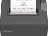 Impresora termica Epson TM-T88V, velocidad de impresion 300 mm/seg, color negro.